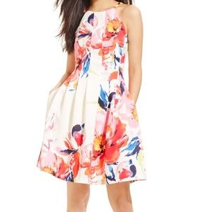 Vince Camuto White / Pink Floral Dress